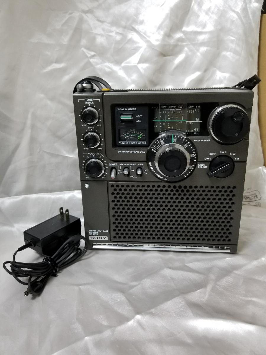 SONY スカイセンサー ICF-5900 カバー、アダプター付き ジャンク