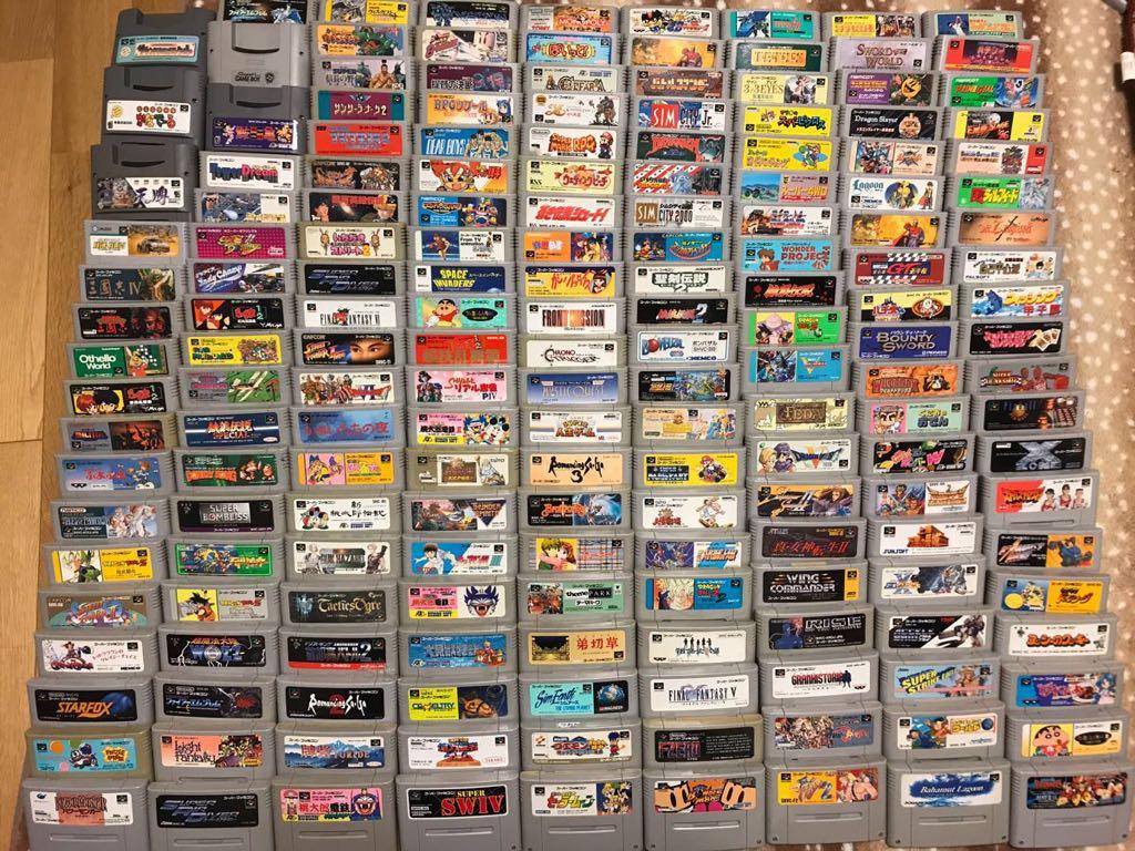 1スタ 即決安 SFC スーパーファミコン 大量 まとめ 300本 ロックマン マリオ くにお