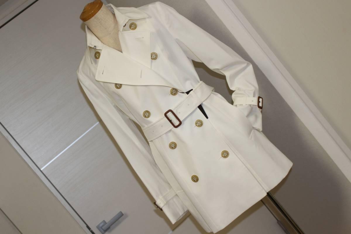 送料無料■新品マッキントッシュ・白のスプリングコート40・卒業・入学式