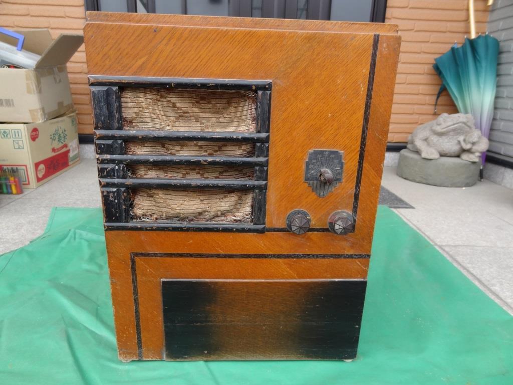 古い真空管ラジオ 国防受信機 双葉電気 真空管