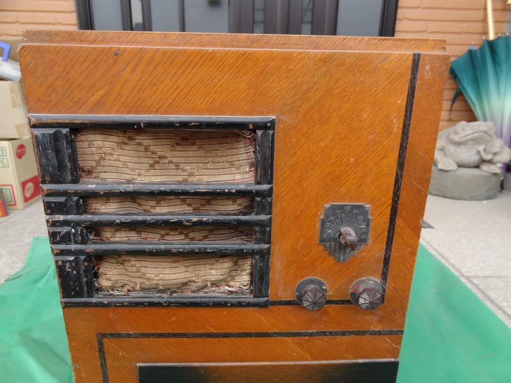 古い真空管ラジオ 国防受信機 双葉電気 真空管_画像2