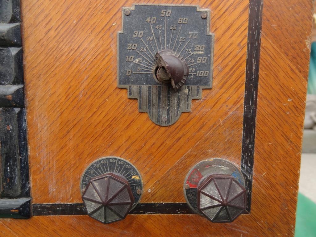 古い真空管ラジオ 国防受信機 双葉電気 真空管_画像4