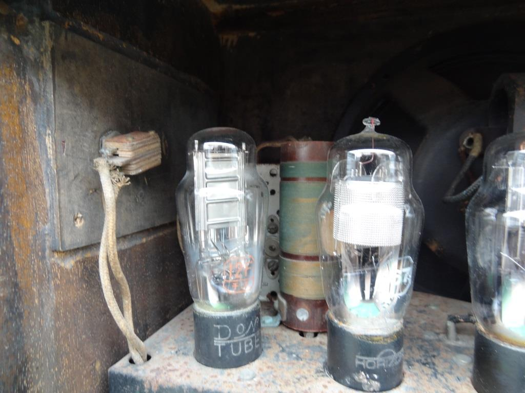 古い真空管ラジオ 国防受信機 双葉電気 真空管_画像10