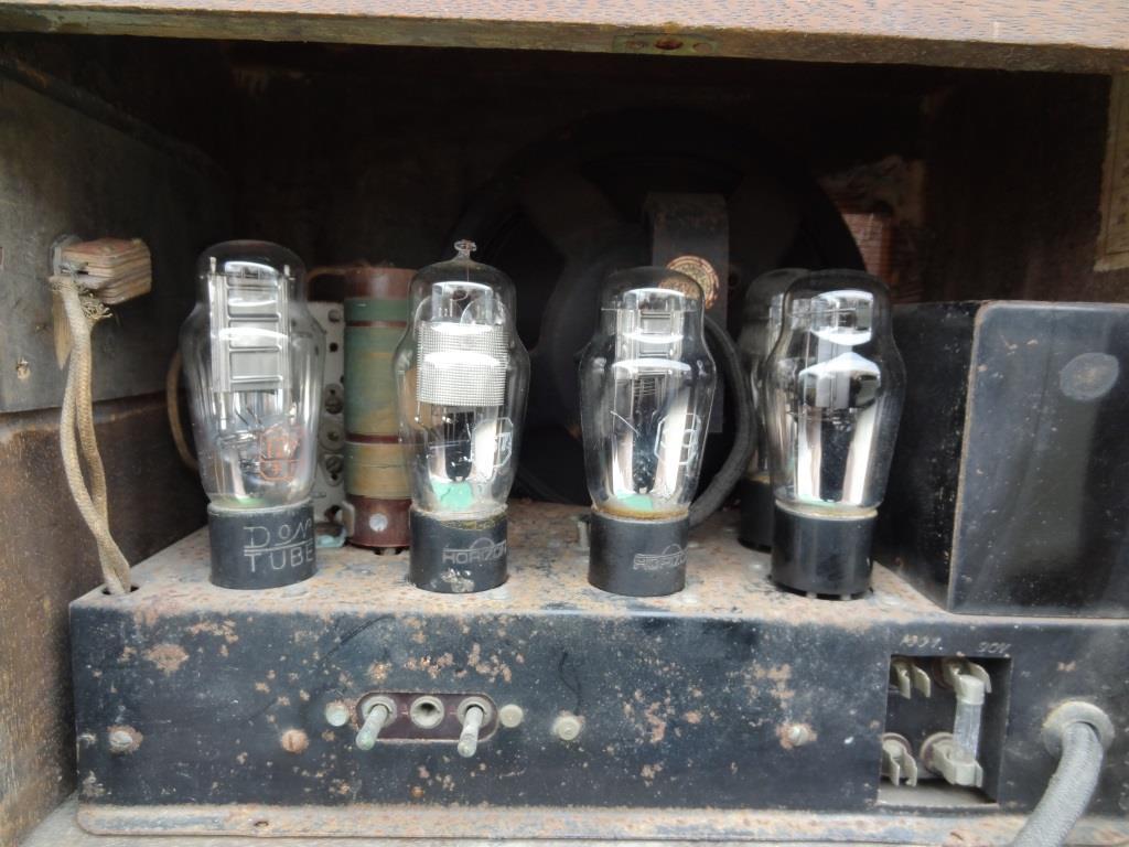 古い真空管ラジオ 国防受信機 双葉電気 真空管_画像9