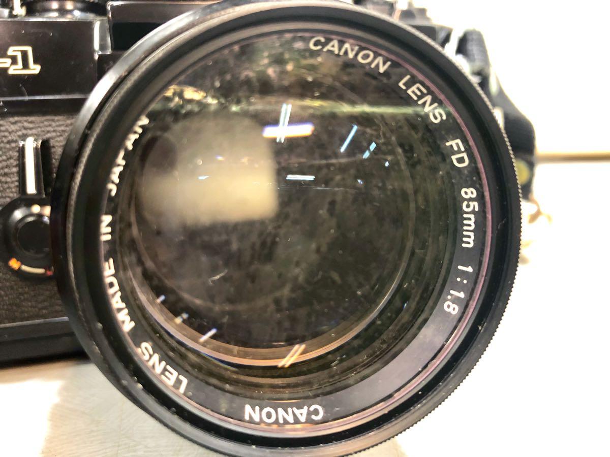 ★☆【ジャンク】CANON/キヤノン 一眼レフカメラ F-1 レンズ:CANON LENS FD 85mm 1:1.8 ☆★_画像3