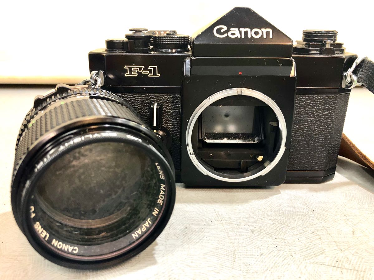 ★☆【ジャンク】CANON/キヤノン 一眼レフカメラ F-1 レンズ:CANON LENS FD 85mm 1:1.8 ☆★_画像2