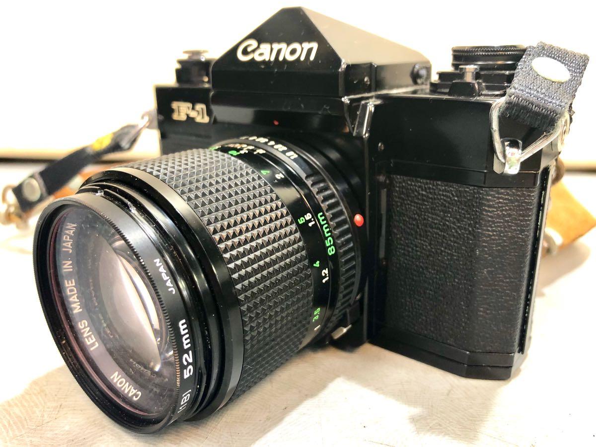 ★☆【ジャンク】CANON/キヤノン 一眼レフカメラ F-1 レンズ:CANON LENS FD 85mm 1:1.8 ☆★_画像4