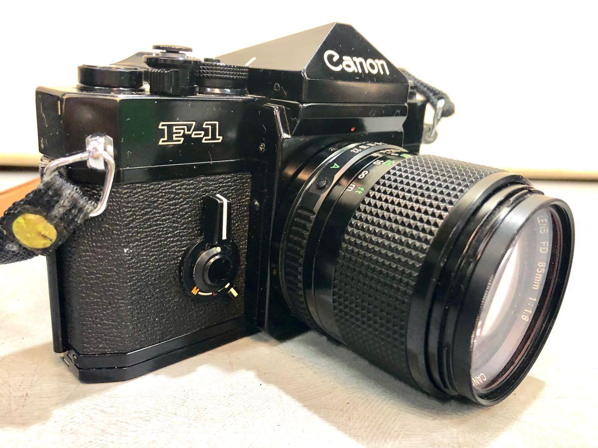 ★☆【ジャンク】CANON/キヤノン 一眼レフカメラ F-1 レンズ:CANON LENS FD 85mm 1:1.8 ☆★_画像5