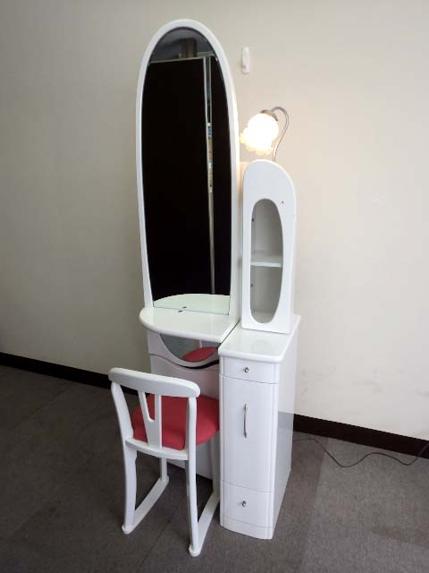 19【S.R】アルファ ドレッサー 20姿見 収納 鏡台 化粧台 かわいい 香川発_画像1