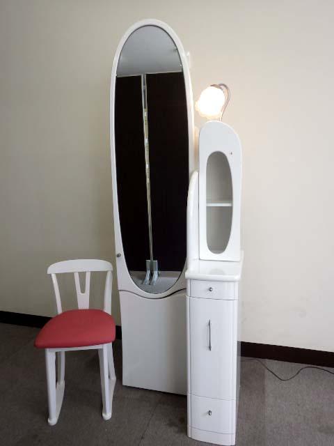 19【S.R】アルファ ドレッサー 20姿見 収納 鏡台 化粧台 かわいい 香川発_画像2
