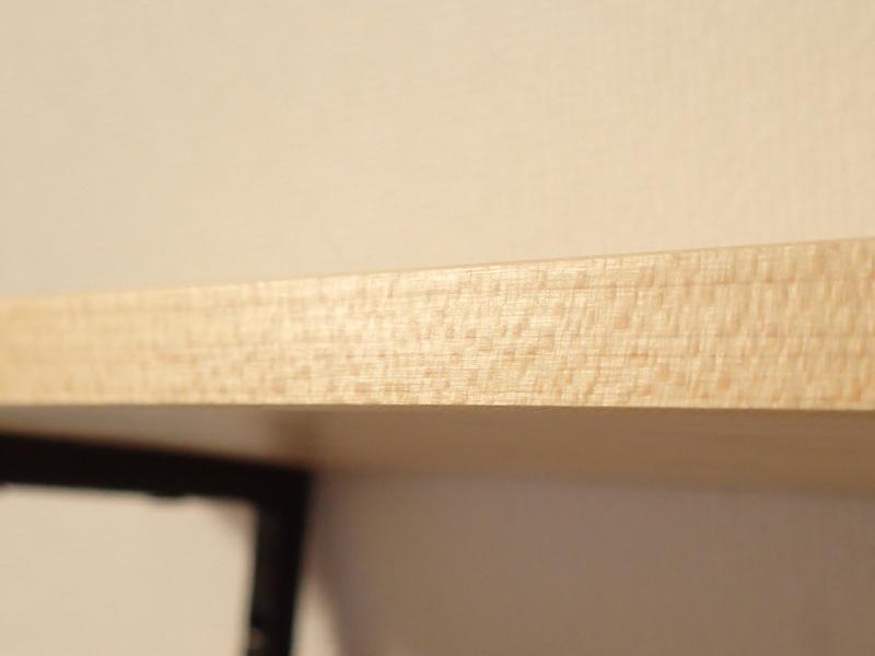 マスターウッド) 壁掛け棚 ハードメープル 無垢材 幅30cm 壁掛けラック おしゃれ アイアンラック 木製_とてもきれいです。