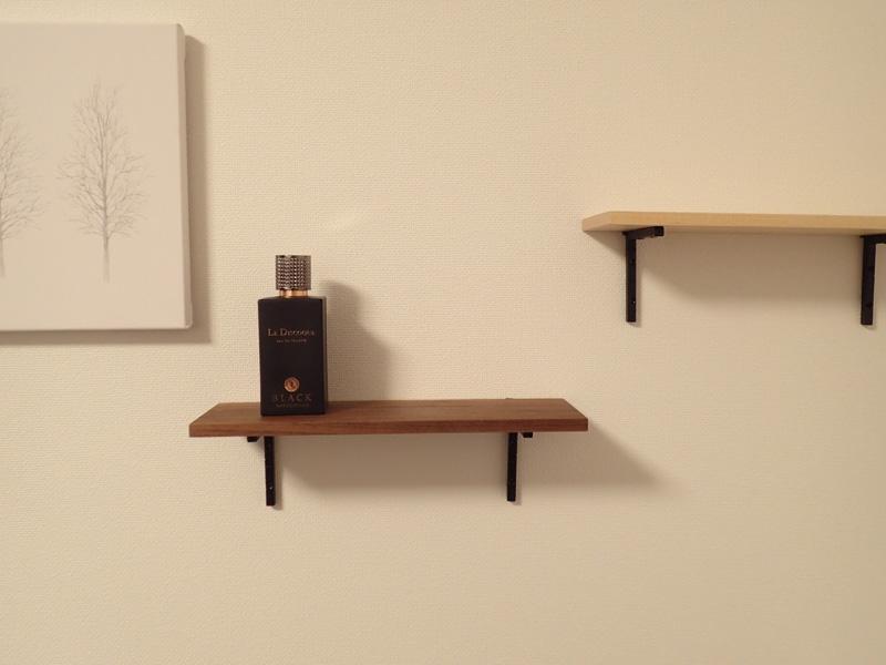マスターウッド) 壁掛け棚 ハードメープル 無垢材 幅30cm 壁掛けラック おしゃれ アイアンラック 木製_別の木材との組み合わせもおしゃれです。