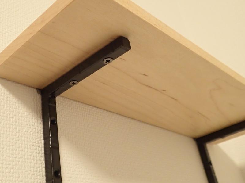 マスターウッド) 壁掛け棚 ハードメープル 無垢材 幅30cm 壁掛けラック おしゃれ アイアンラック 木製_画像5