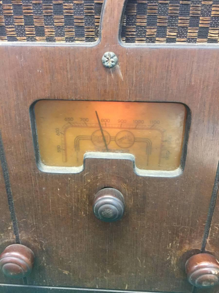 2点セット 木製 戦前? 戦後? 時代不明 レトロ 真空管 ラジオ アンティーク ジャンク 年代物 ビンテージ インテリアにも 中古_画像4