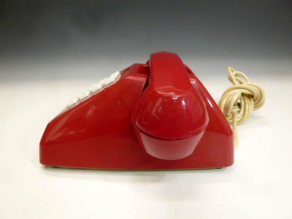 ◆昭和レトロ ダイヤル電話型 プッシュホン 赤電話 NY 84 601-P 実用 コレクション 撮影小道具 昭和レトロポップなお部屋等にも!_画像2