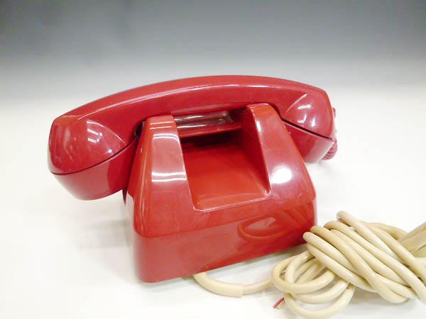 ◆昭和レトロ ダイヤル電話型 プッシュホン 赤電話 NY 84 601-P 実用 コレクション 撮影小道具 昭和レトロポップなお部屋等にも!_画像3