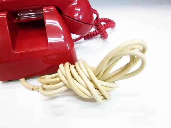 ◆昭和レトロ ダイヤル電話型 プッシュホン 赤電話 NY 84 601-P 実用 コレクション 撮影小道具 昭和レトロポップなお部屋等にも!_画像4