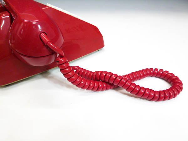 ◆昭和レトロ ダイヤル電話型 プッシュホン 赤電話 NY 84 601-P 実用 コレクション 撮影小道具 昭和レトロポップなお部屋等にも!_画像6