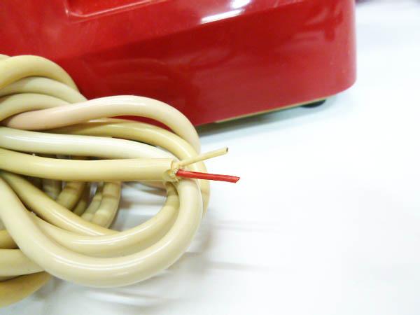 ◆昭和レトロ ダイヤル電話型 プッシュホン 赤電話 NY 84 601-P 実用 コレクション 撮影小道具 昭和レトロポップなお部屋等にも!_画像5