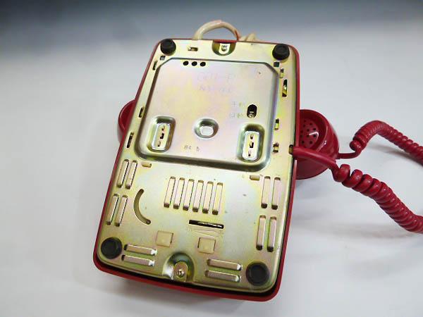 ◆昭和レトロ ダイヤル電話型 プッシュホン 赤電話 NY 84 601-P 実用 コレクション 撮影小道具 昭和レトロポップなお部屋等にも!_画像9