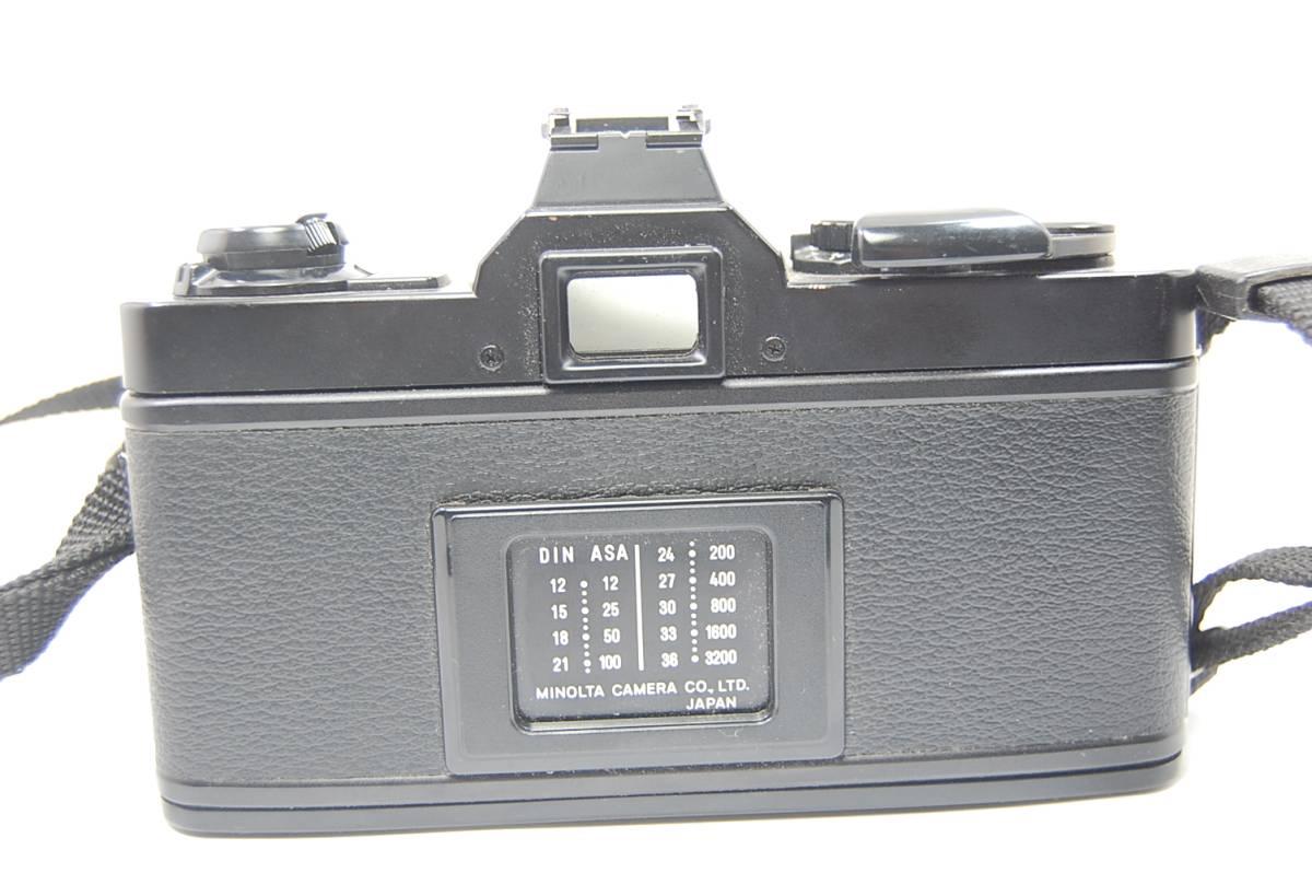 MINOLTA  XG-Sブラックボディ+MD ROKKOR 50mm 1:1.4 前キャップつき/レトロ*アンティーク*ビンテージ*レア_画像4