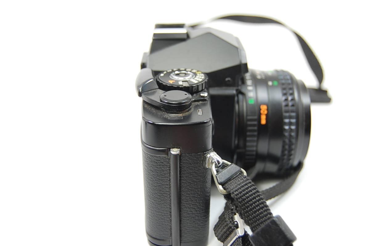 MINOLTA  XG-Sブラックボディ+MD ROKKOR 50mm 1:1.4 前キャップつき/レトロ*アンティーク*ビンテージ*レア_画像5