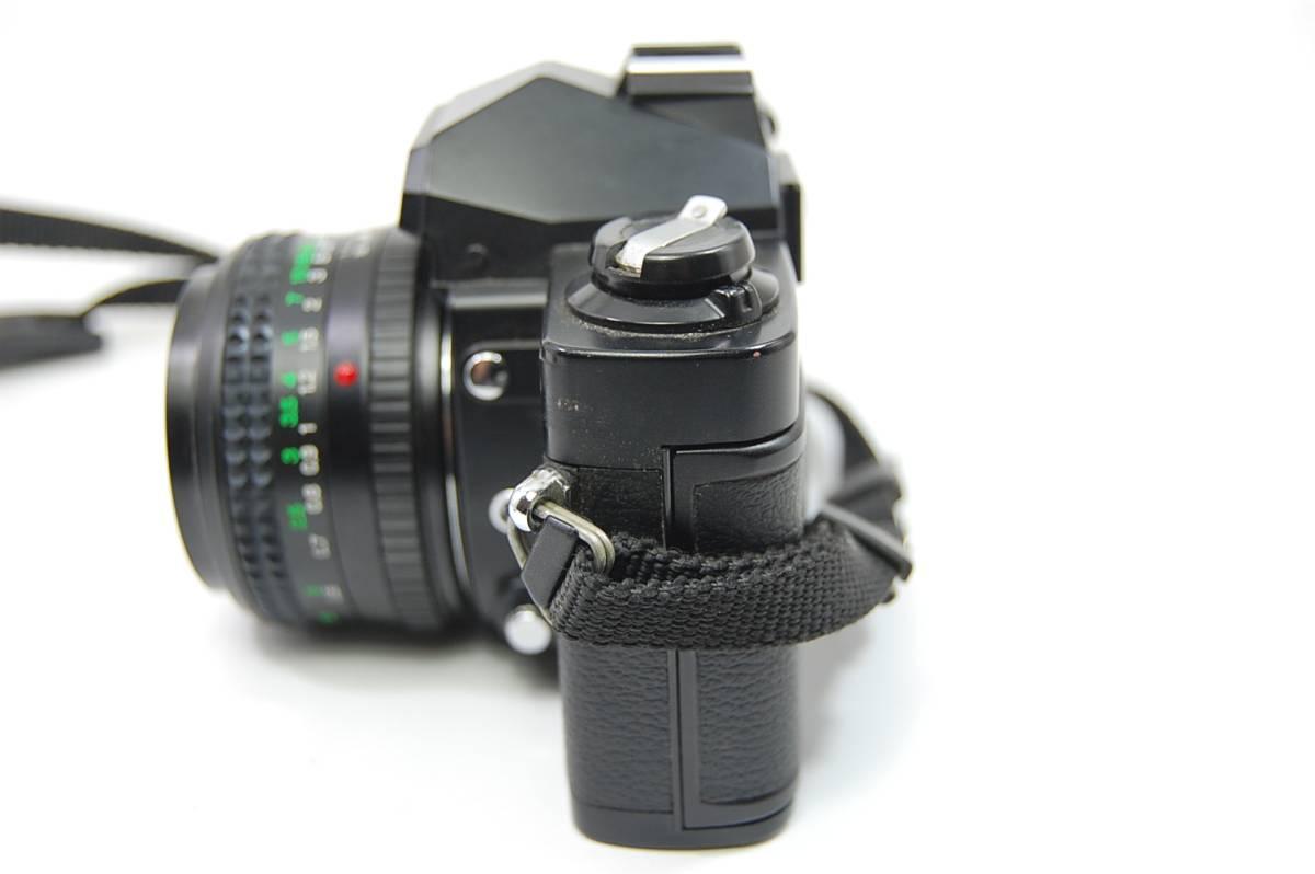 MINOLTA  XG-Sブラックボディ+MD ROKKOR 50mm 1:1.4 前キャップつき/レトロ*アンティーク*ビンテージ*レア_画像3