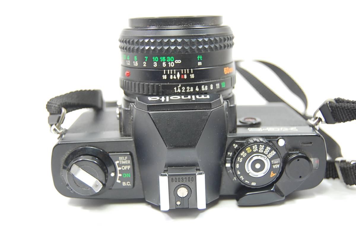 MINOLTA  XG-Sブラックボディ+MD ROKKOR 50mm 1:1.4 前キャップつき/レトロ*アンティーク*ビンテージ*レア_画像6
