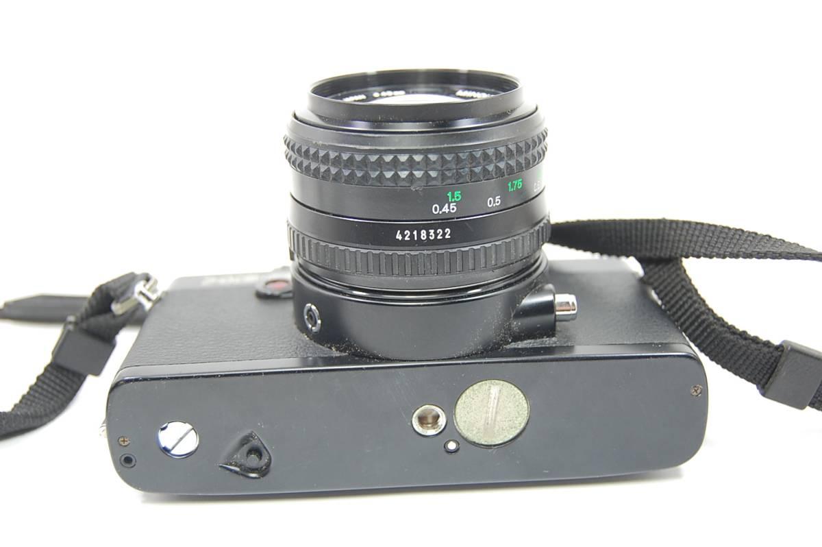 MINOLTA  XG-Sブラックボディ+MD ROKKOR 50mm 1:1.4 前キャップつき/レトロ*アンティーク*ビンテージ*レア_画像7