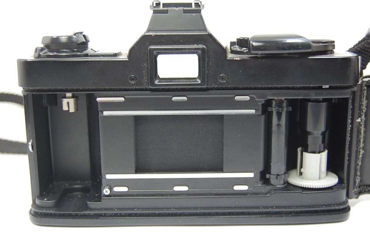 MINOLTA  XG-Sブラックボディ+MD ROKKOR 50mm 1:1.4 前キャップつき/レトロ*アンティーク*ビンテージ*レア_画像8