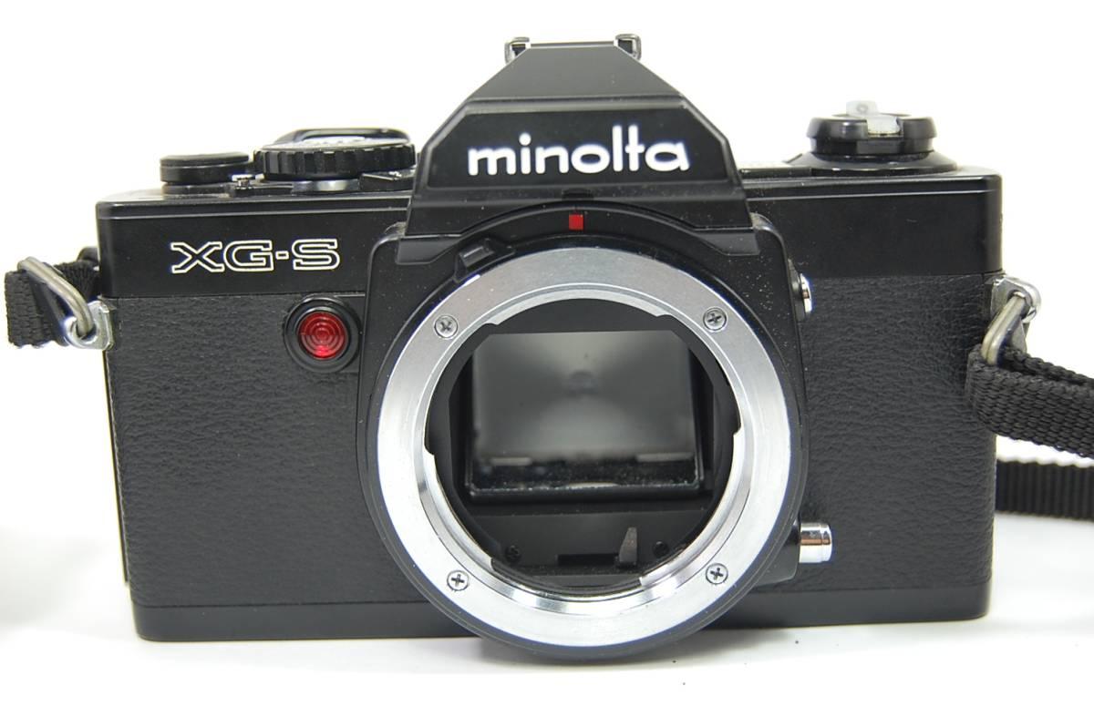 MINOLTA  XG-Sブラックボディ+MD ROKKOR 50mm 1:1.4 前キャップつき/レトロ*アンティーク*ビンテージ*レア_画像10