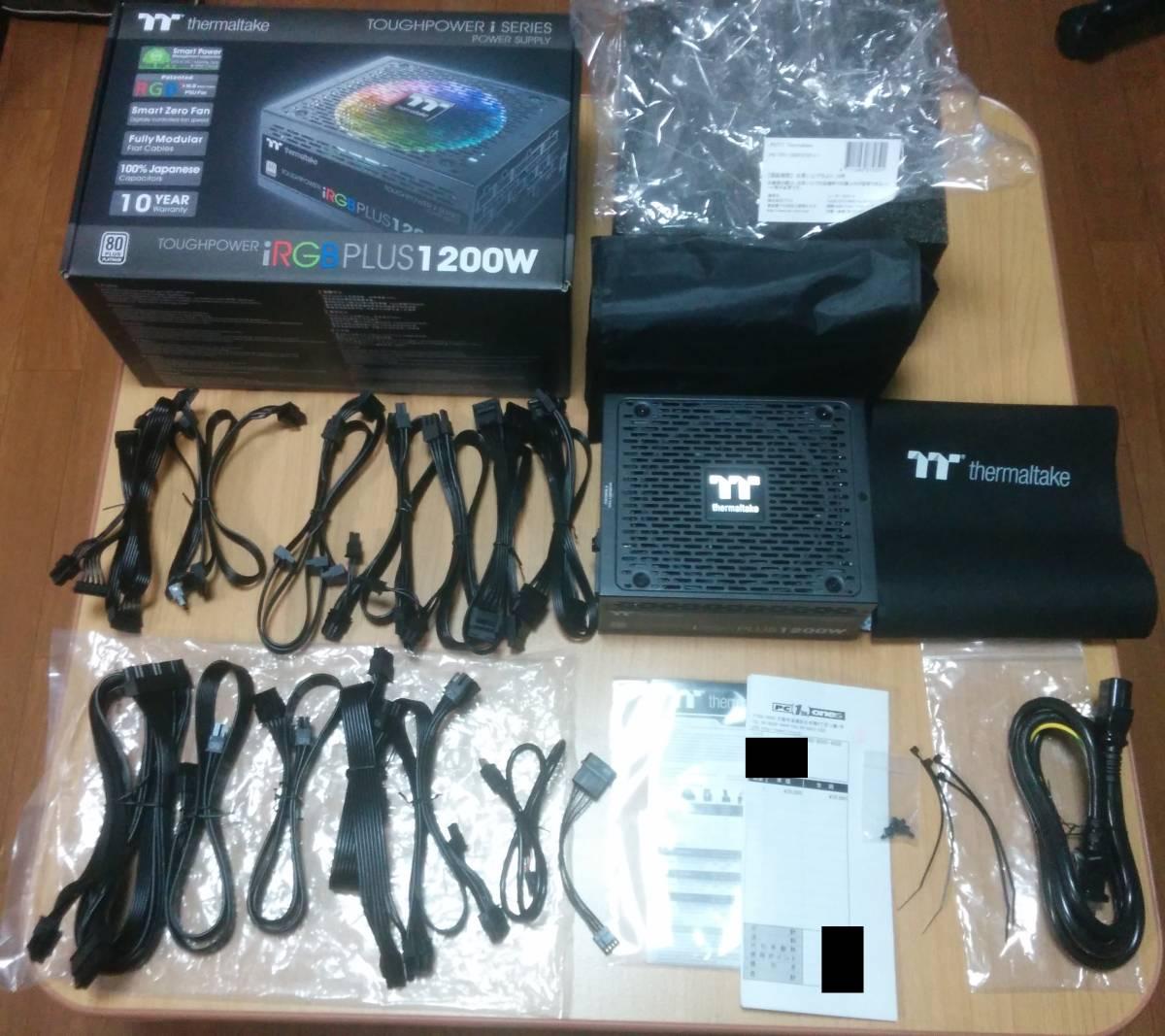 【10年保証 保証シール伝票】Thermaltake Toughpower iRGB PLUS 1200W PLATINUM PS-TPI-1200F2FDPJ-1日本製コンデンサ プラチナ電源 自作PC