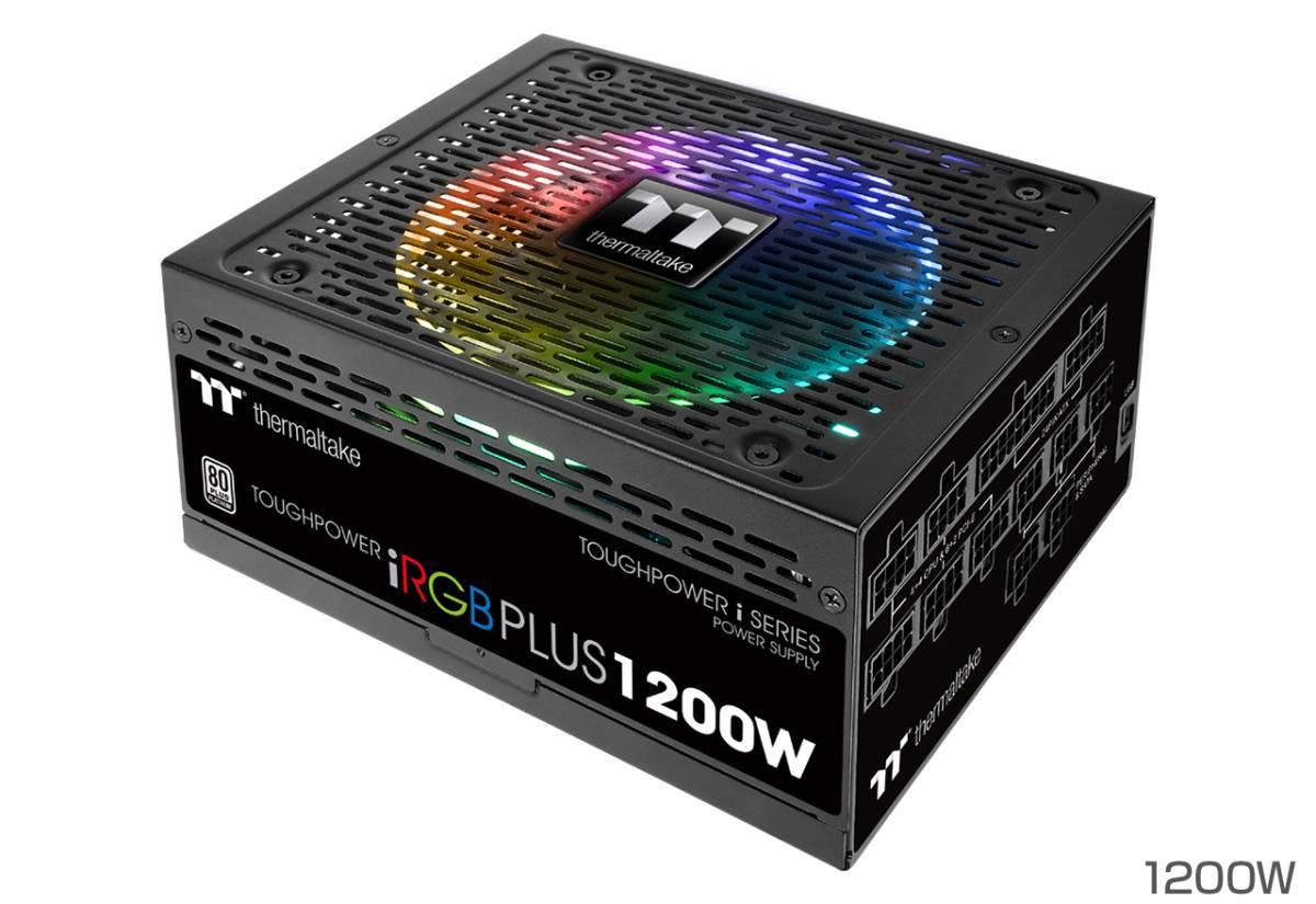 【10年保証 保証シール伝票】Thermaltake Toughpower iRGB PLUS 1200W PLATINUM PS-TPI-1200F2FDPJ-1日本製コンデンサ プラチナ電源 自作PC_画像10