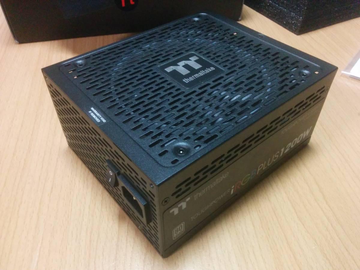 【10年保証 保証シール伝票】Thermaltake Toughpower iRGB PLUS 1200W PLATINUM PS-TPI-1200F2FDPJ-1日本製コンデンサ プラチナ電源 自作PC_画像2