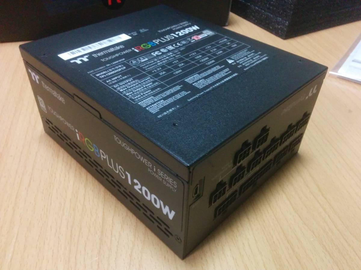 【10年保証 保証シール伝票】Thermaltake Toughpower iRGB PLUS 1200W PLATINUM PS-TPI-1200F2FDPJ-1日本製コンデンサ プラチナ電源 自作PC_画像3