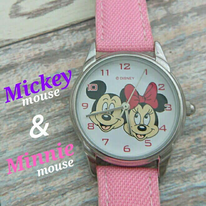 Free Shipping Mickey Mouse & Minnie Mouse Watch Mickey Mouse Minnie Mouse Watch Watch Used GW 130