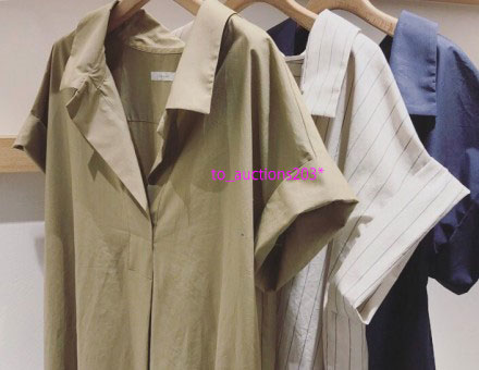 新品 Plage プラージュ ◆ デコルテネックシャツワンピース ベージュ ◆_画像9