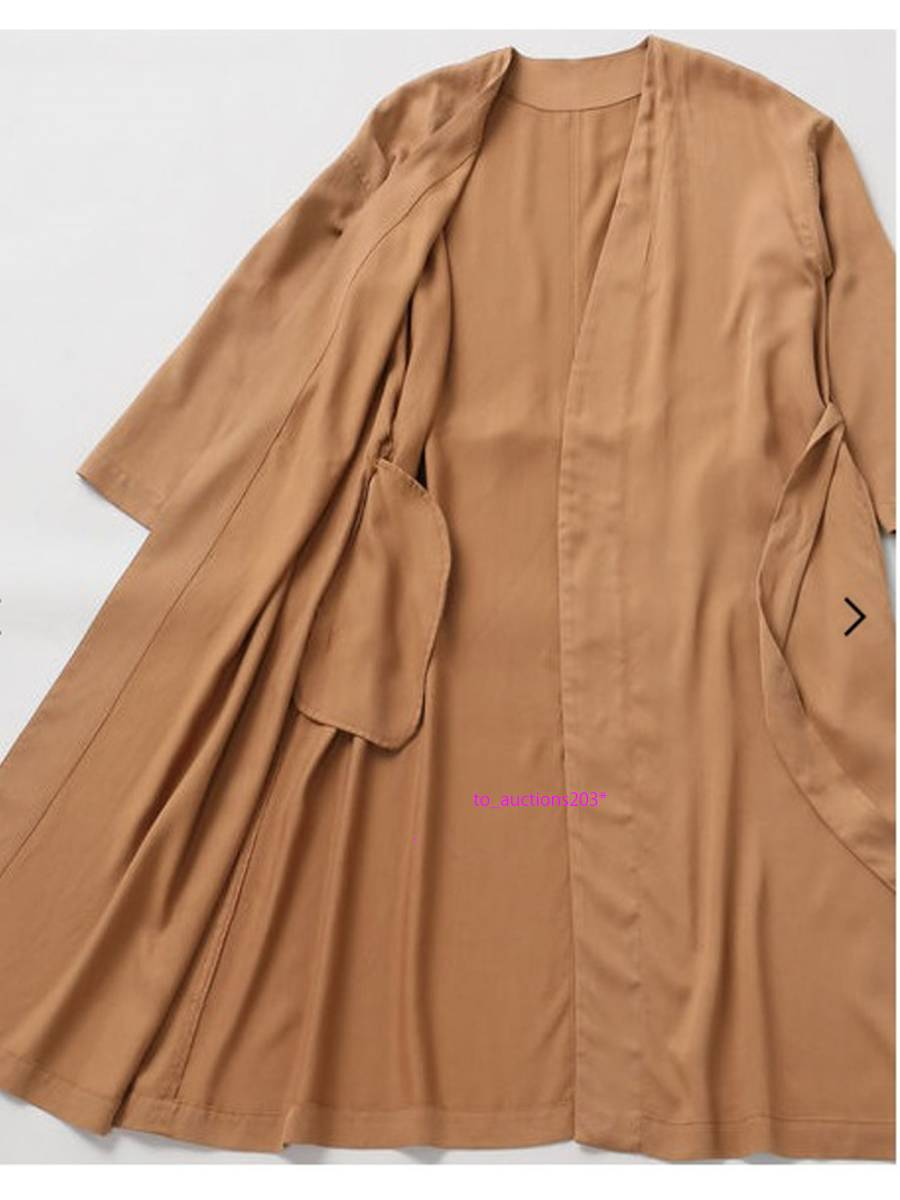 ◆ Plage プラージュ ◆ 新品 襟抜き ウォッシャブルガウンコート ブラウン  ◆_画像4