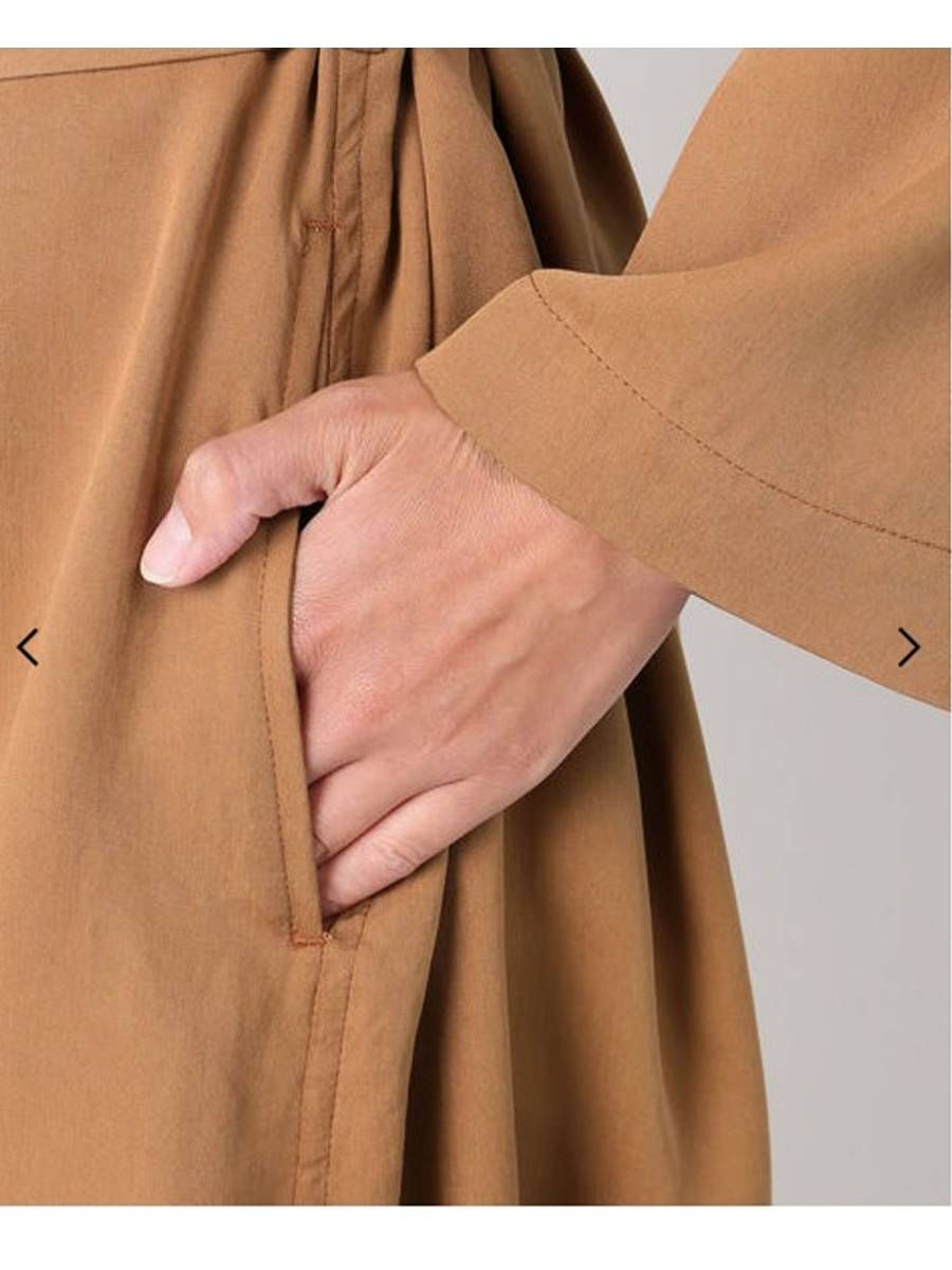 ◆ Plage プラージュ ◆ 新品 襟抜き ウォッシャブルガウンコート ブラウン  ◆_画像5