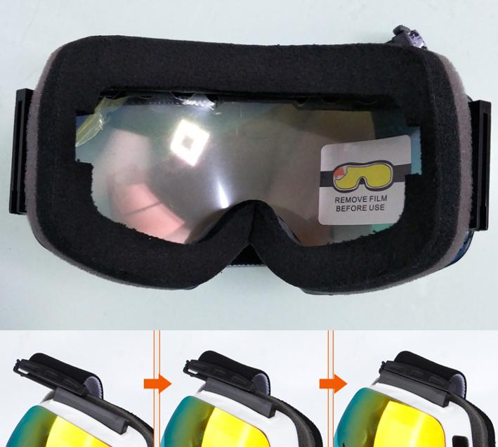 スキー スノーボード スケート アウトドア ゴーグル ダブルレンズ 袋 付き 防塵 防風 UV モトクロス revo 球面 登山 新品 その他 2_画像4