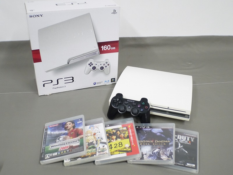1円~★SONY PS3 (160GB) CECH-2500A 本体 動確済 オマケ付(ジャンクソフト5本) ⑦ (4806)