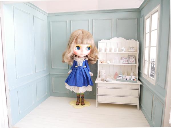 1/6ドールハウス BOX型ハウス&家具のセット /ブライス、momoko、リカちゃん等に_画像2