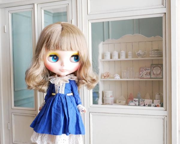 1/6ドールハウス BOX型ハウス&家具のセット /ブライス、momoko、リカちゃん等に