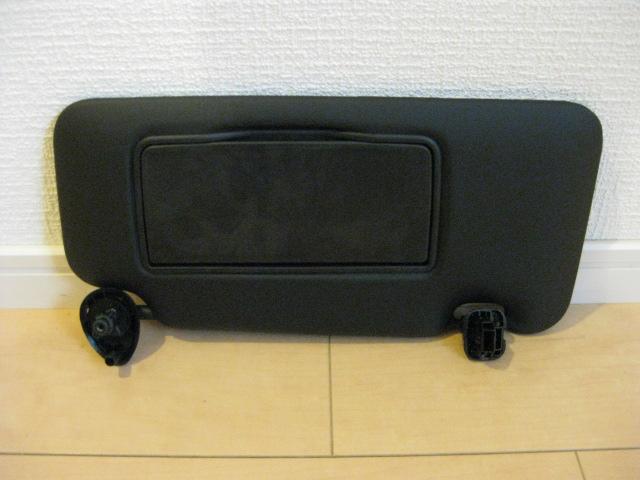 汎用バニティーミラー付きサンバイザー★黒/運転席用/新品/ジムニーJA11JA22SJ10SJ30JB23デリカスターワゴンエブリイハイゼット旧車等に