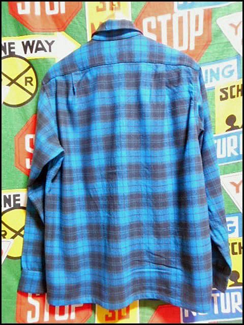 ★GOODコンディションな1枚★Made in USA製アメリカ製PENDLETONペンドルトンビンテージウールシャツ50s50年代Mシャドーチェックオンブレー_画像3