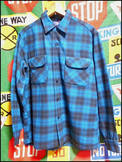 ★GOODコンディションな1枚★Made in USA製アメリカ製PENDLETONペンドルトンビンテージウールシャツ50s50年代Mシャドーチェックオンブレー_画像2