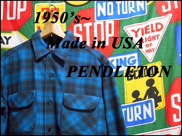 ★GOODコンディションな1枚★Made in USA製アメリカ製PENDLETONペンドルトンビンテージウールシャツ50s50年代Mシャドーチェックオンブレー_《 1950s~ PENDLETON 》