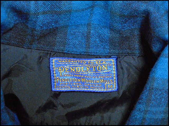 ★GOODコンディションな1枚★Made in USA製アメリカ製PENDLETONペンドルトンビンテージウールシャツ50s50年代Mシャドーチェックオンブレー_画像7