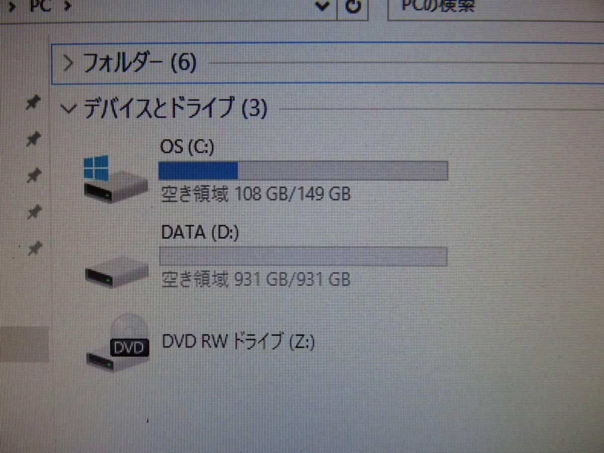 秒速起動 i7 同等 Xeon E3-1280V2 / 8GB / 新SSD160GB + 1TB★自作PC Diginnos◆Windows10★Office 2016付◆NVIDIA◆USB3.0◆値下げ。即決_画像10