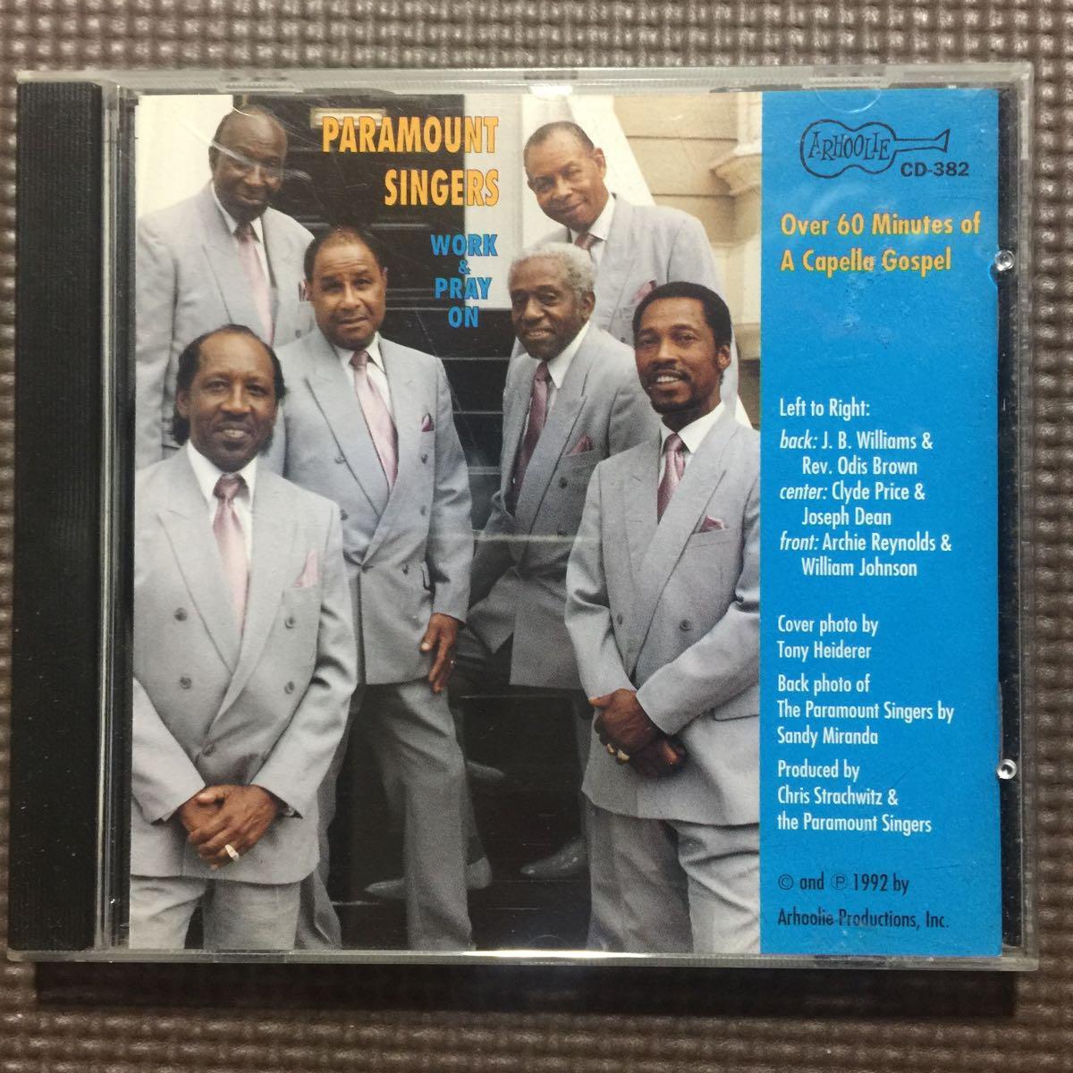 ザ・パラマウント・シンガーズ ワーク・アンド・プレイ・オン 輸入盤国内仕様 CD